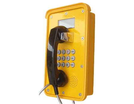 IP 66 Waterproof tunnel telephone ,dust proof telephone with LCD display industrail telephone