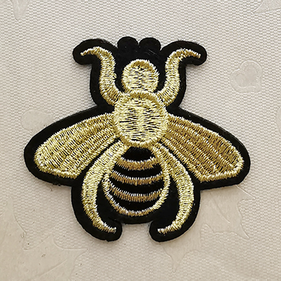 Gold Embroidery patches,Custom Gold Silver Embroidery Patches, EmbroideryPatchAdhesive,Patches