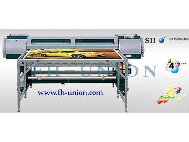 Seiko SPT 510, 2500mm, FY-2506-BF, Solvent Flatbed Printer
