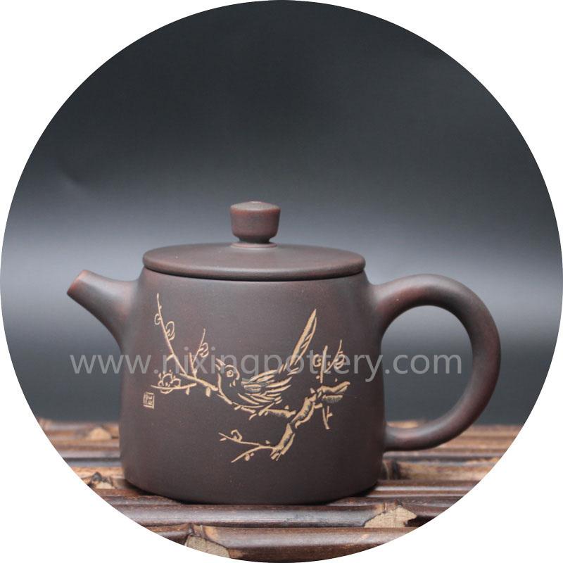 Chinese Vintage Qinzhou Nixing Ceramic Handmade Teapot Kung Fu Tea Pot 200ml