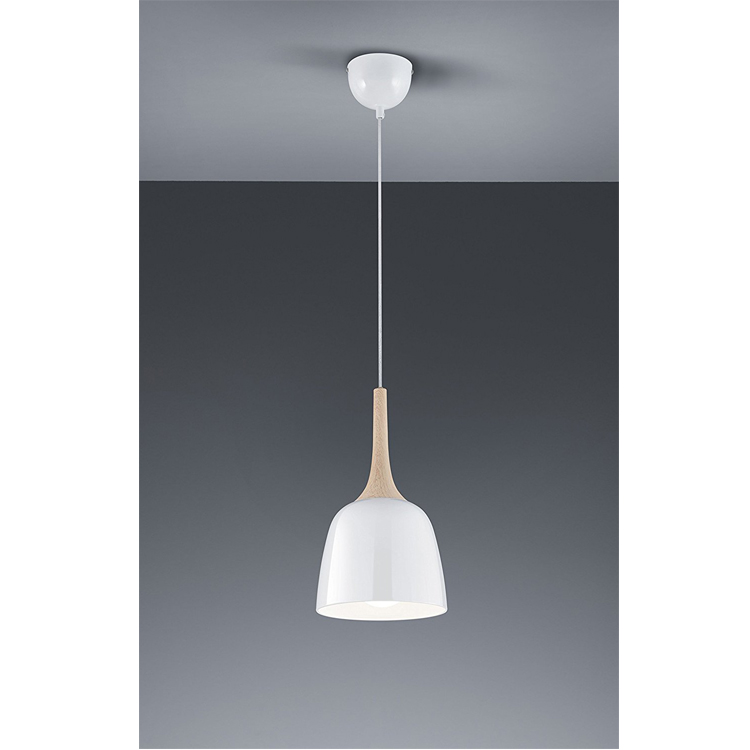 CE Hanging Pendant lamps celling lighting metal and wood shade E26 painting colorful