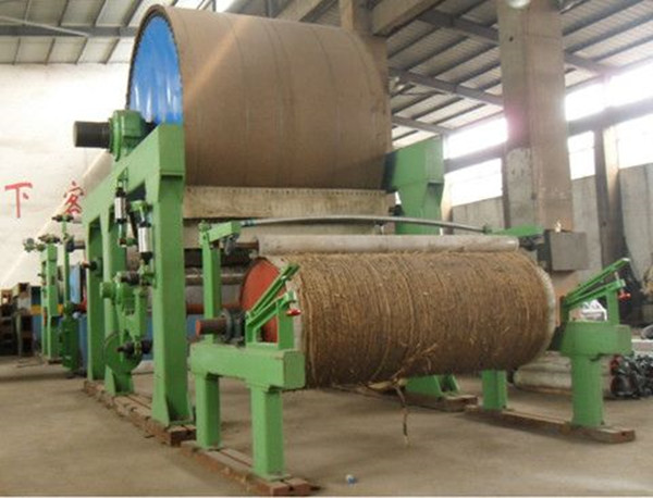 2T/D pulp and waste paper recycling jumbo roll toilet tissue paper making machine price