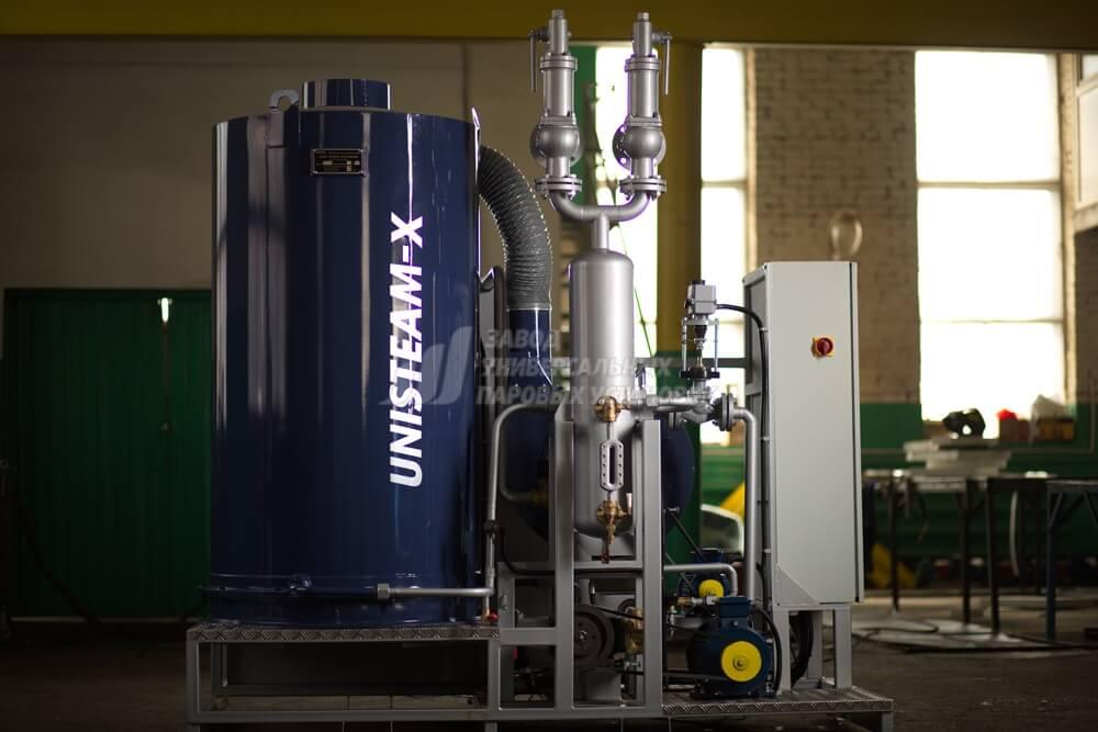 UNISTEAM-X OPTIMAL 1000 gas and diesel steam boiler for food, beverage industries