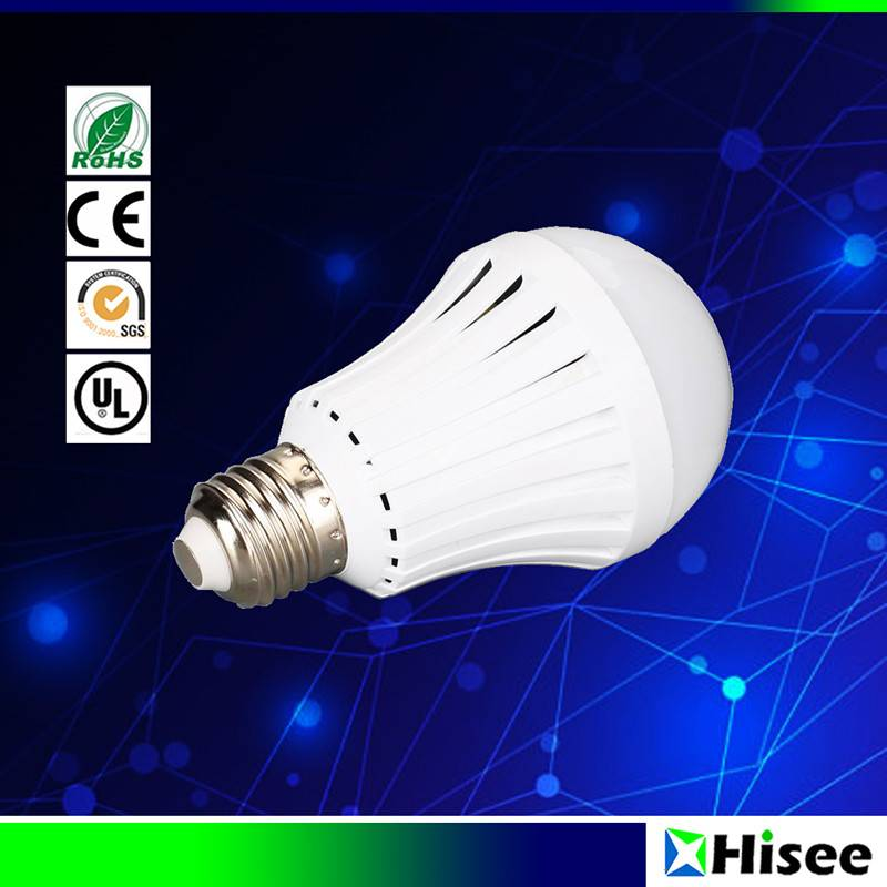 5W smart rechargeable emergency LED bulb light