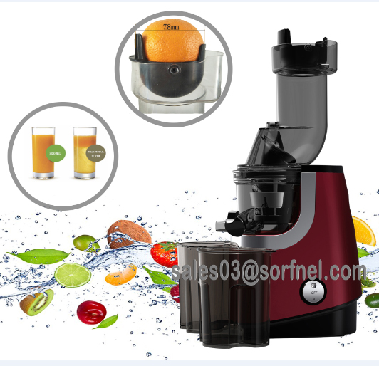 SORFNEL The latest High Performance-price Ratio Wide Feeding Tube SLow Juicer In 2018