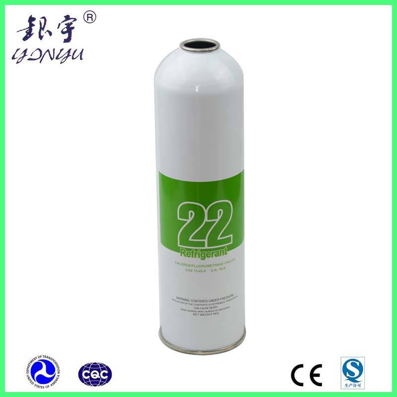 refrigerant gas cylinder for refrigerant gas 22