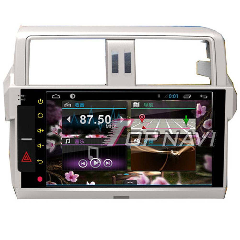 1024*600 10.1inch Android 4.4 Car GPS Player Video For Toyota Prado Navigation