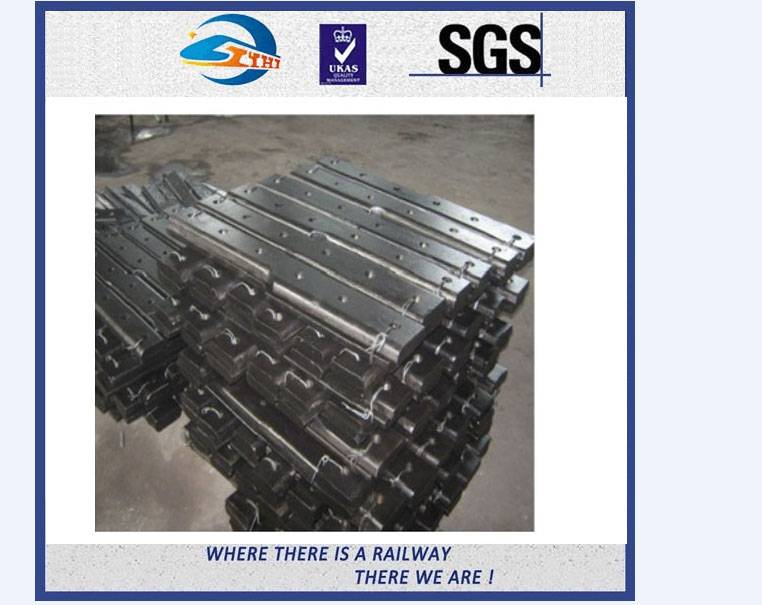 ZhongYue Steel 50# Rolled Railway Fish Plate Connecting Rails Cast Rail Joint Bar
