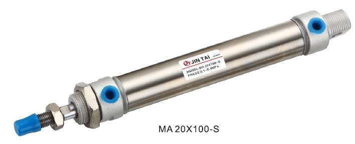 MA Stainless Steel Mini Cylinder (MA20X100-S)