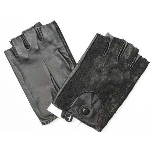 Fingerless driving gloves for lady