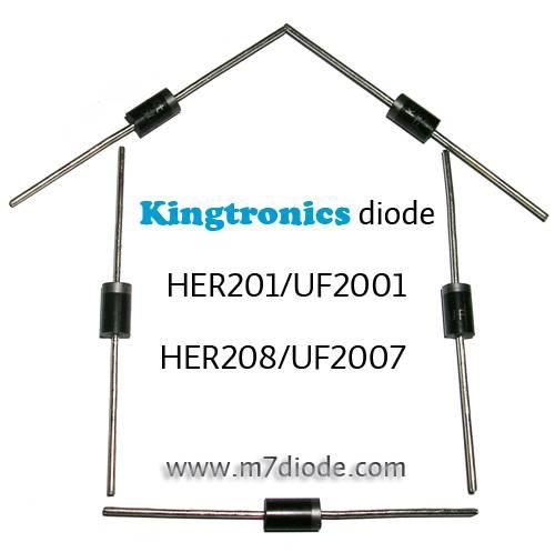 Kt Kingtronics Diode HER201/UF2001 THRU HER208/UF2007