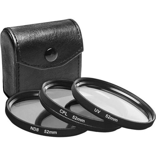 52mm UV filter, CPL filter and ND8 filter set with a case