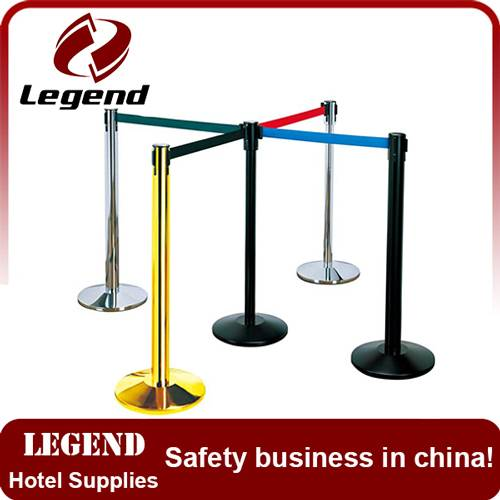 wholesale stainless Steel Retractable Belt Stanchion for Airport / Hotel / Bank