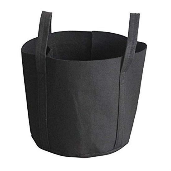 Polyester Felt Material and Grow Bags Type Round Felt Planting Grow Bags Aeration Pot Container Blac