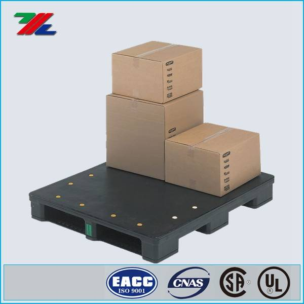 6,000 lb., 48 In. L, 40 In. W, Black Rackable Pallet