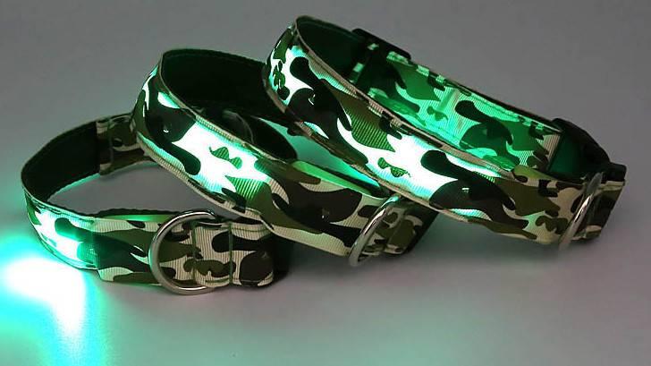 LED dog Collar led flashing dog collar led nylon collar
