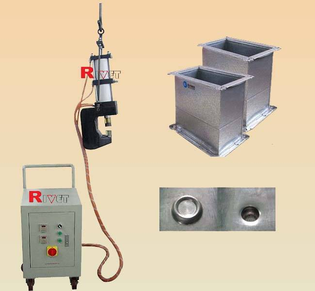 rivetless riveting machine,ventilation pipe riveting machine