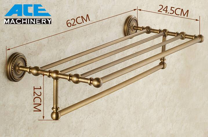 Brass Bathroom Tower Rack