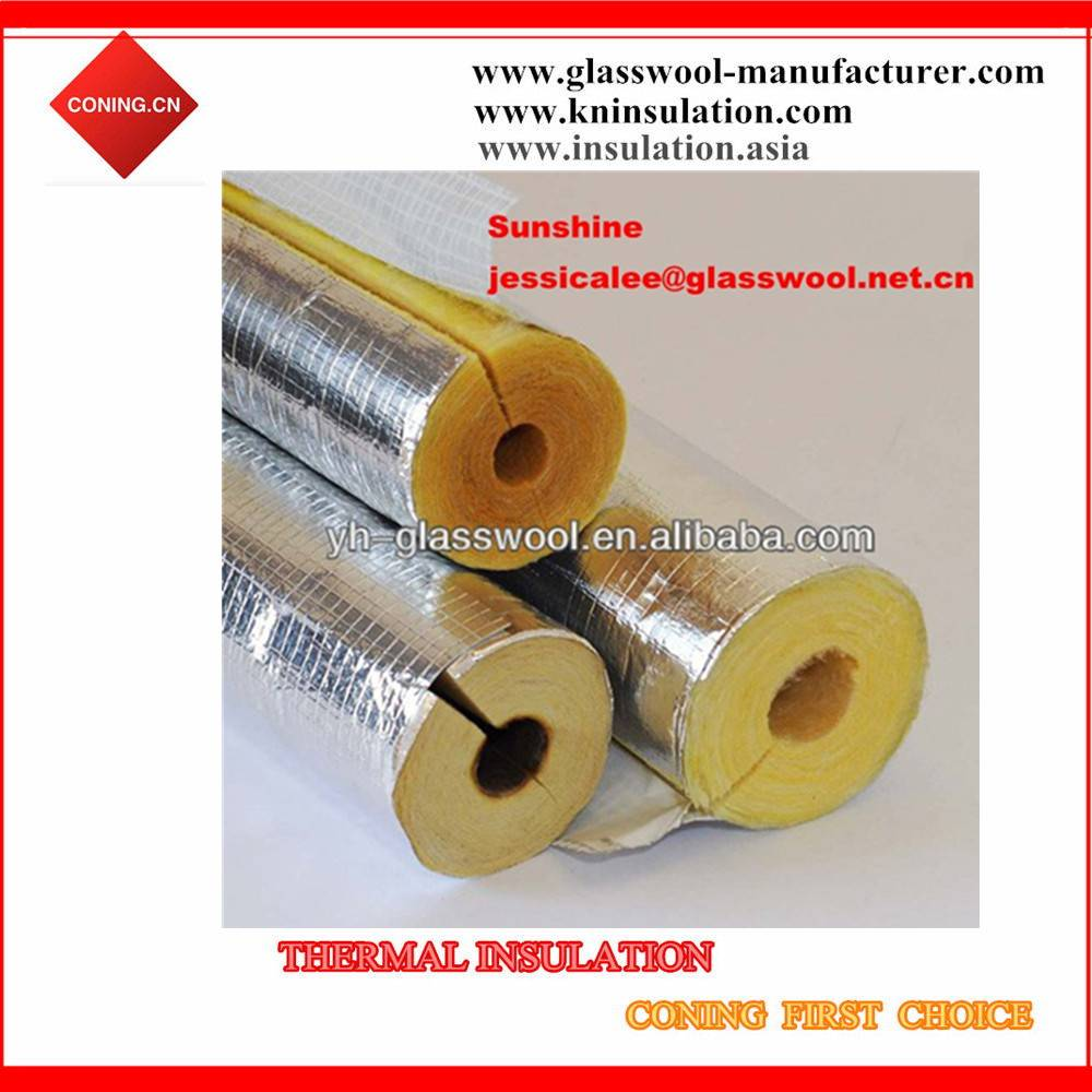 Insulation glass wool pipe/ fiberglass wool tube