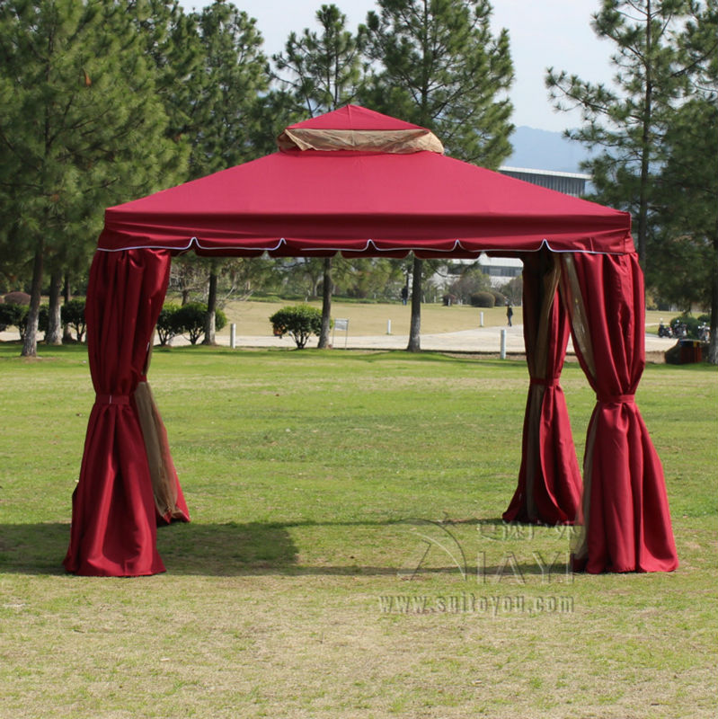 33 meter aluminum deluxe outdoor gazebo patio tent pavilion with sidewalls