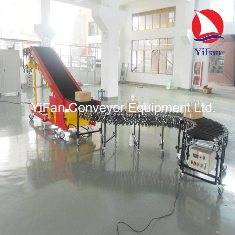 Courier Company Van Loading Conveyor