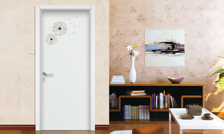 HONMAX interior color decoration painting wood door for home room door