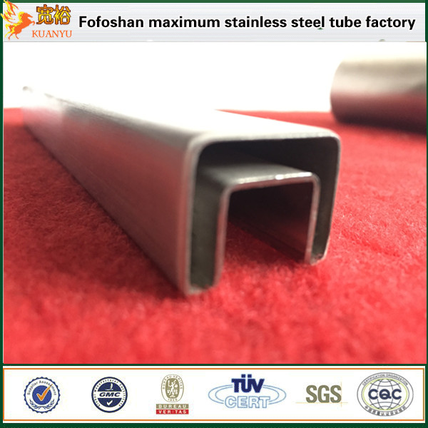China supplier tp316 stainless steel slot squre slotted pipes for handrail
