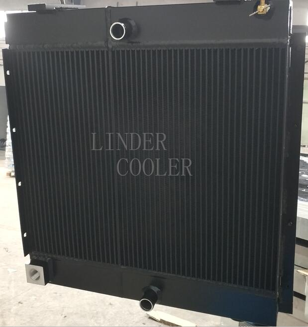 combied oil cooler and water radiator