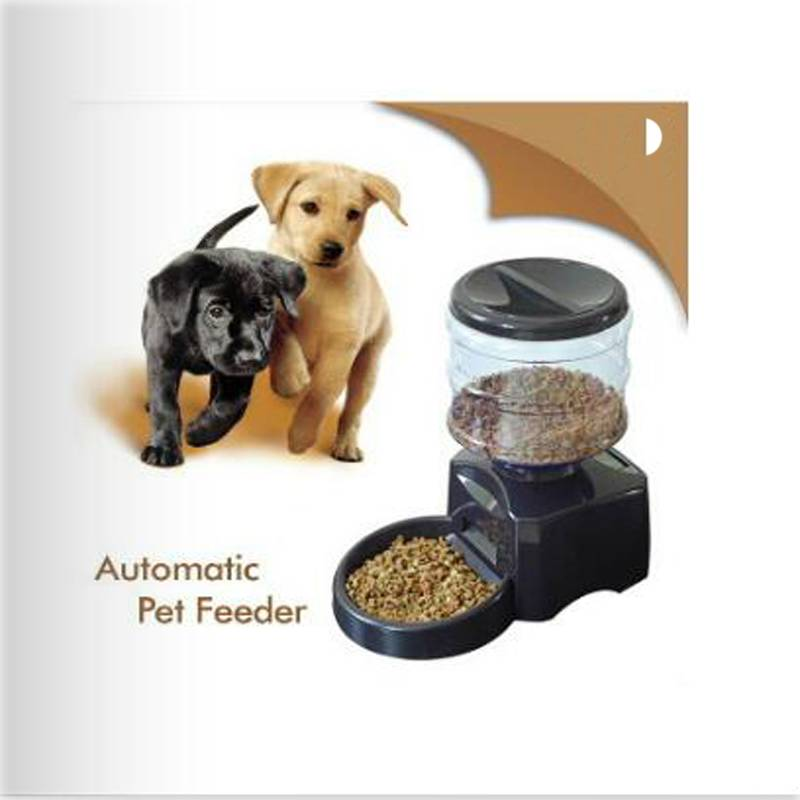 big pet dog automatic feeder with LCD screen 8L large safe and clean dog feeding bowel