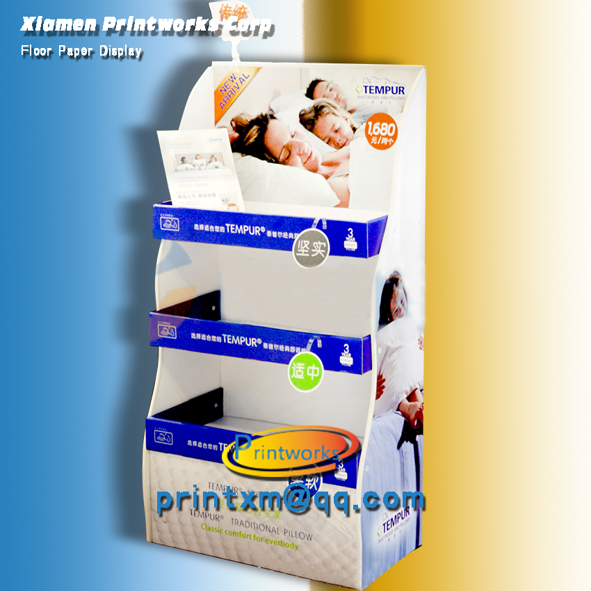 Custom Supermarket Paper Display Stand for products promotion