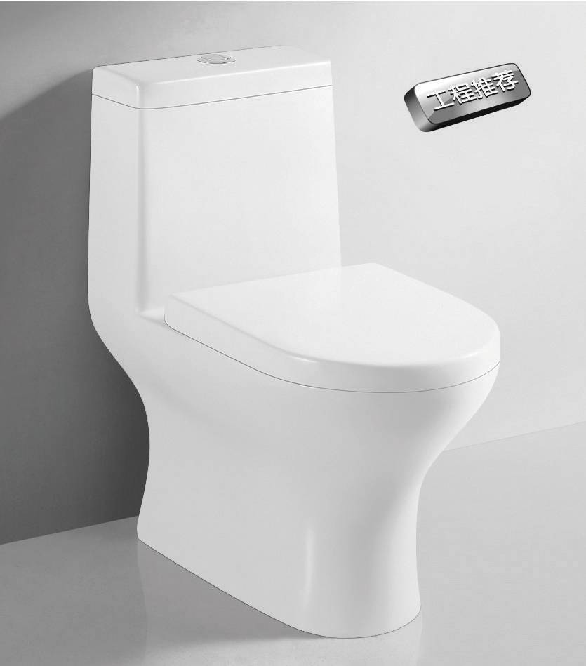 Classic style Siphon Jet Flushing One-piece Toilet Ceramic Water Closet