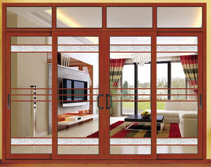 Aluminium horizontal sliding window with standard size