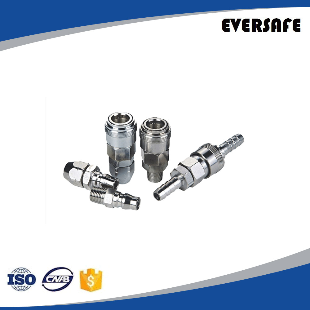Brass quick connect pneumatic coupling