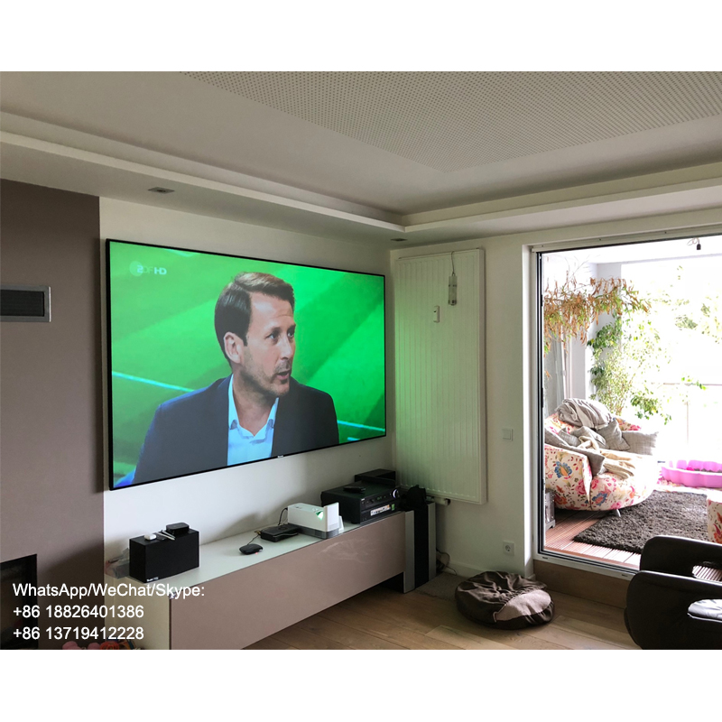 XY Screen 100 inch, 120inch PET Crystal UST ALR Projector Screen for xiaomi laser projector