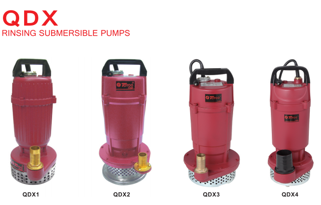 QDX rinsing submersible pumps