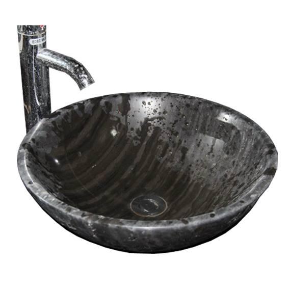 natural black marble basins