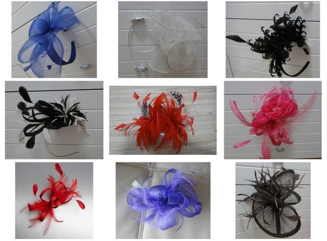 New hats/hairwear for organza and sinamay