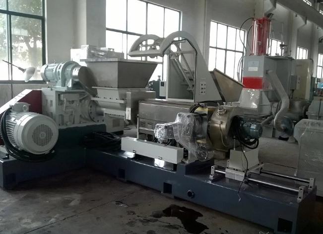 Kneader+double-awl+single screw plastic filler compound machine manufacture