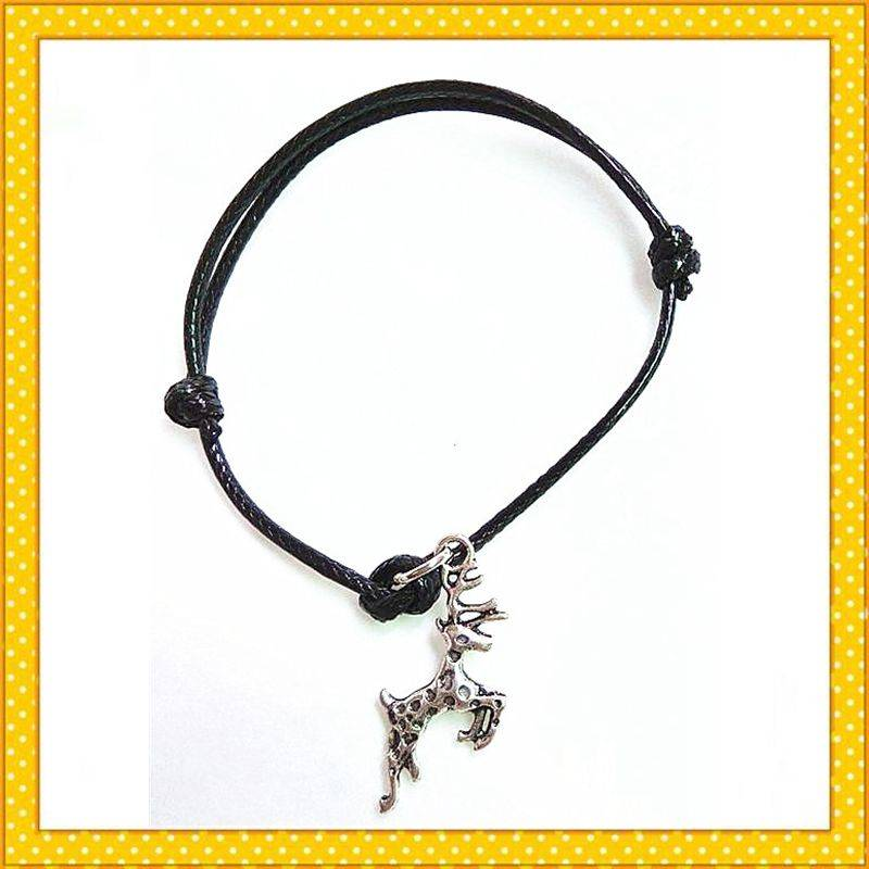 running horse adjustable rope bracelet