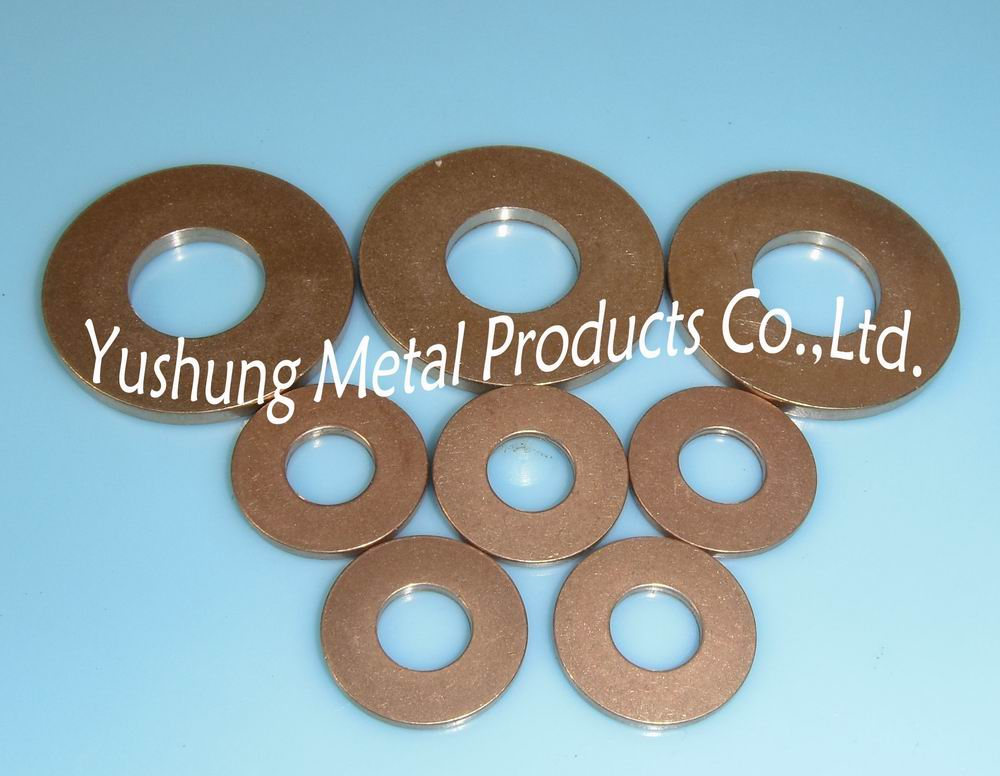 Silicon bronze flat washer fender washers