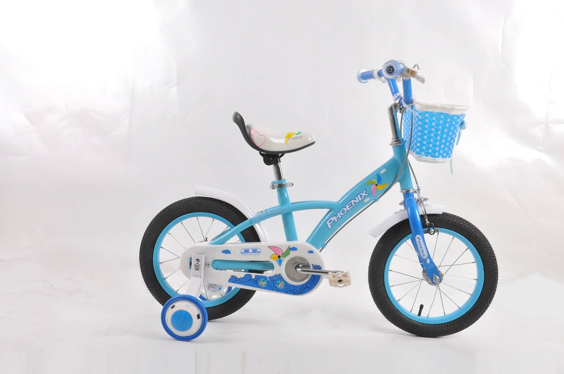 pink basket bicycle for baby,kids training bike, kids bicycle four wheels