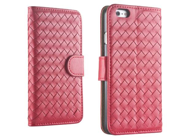 IP6S93 Deluxe Hand-made Knitted Leather Case for iPhone 6/6s