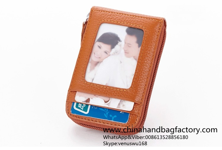 China PU leather credit card holder manufacturer factory