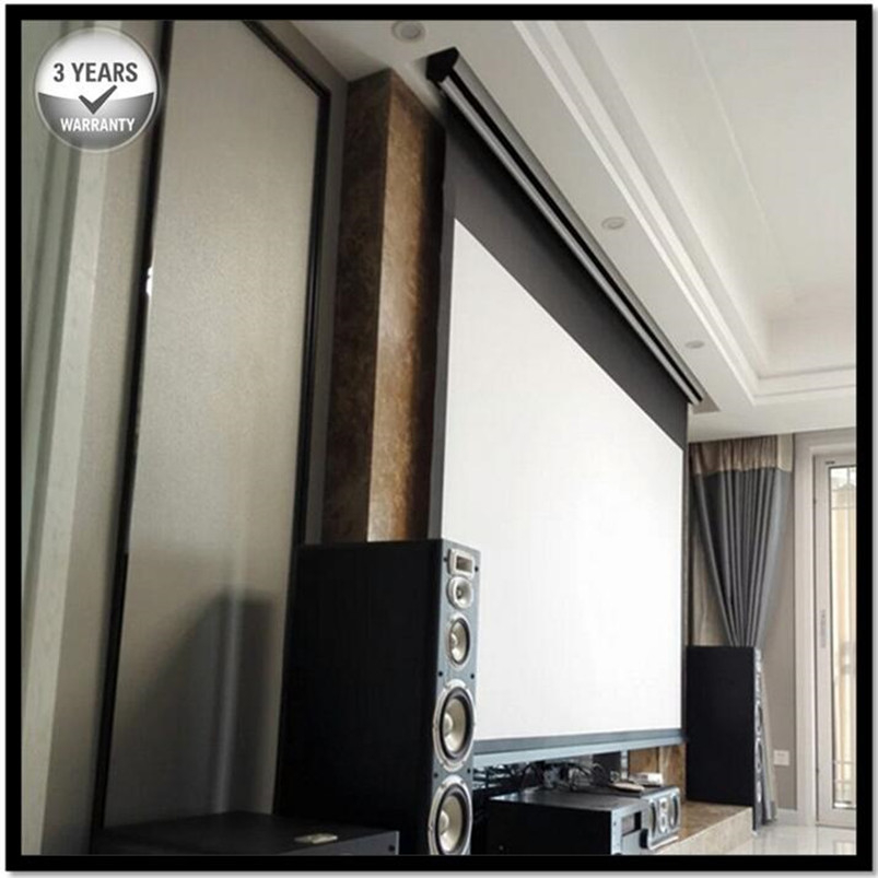 4K Ultra HD and Active 3D Ready, Tensioned Electric Motorized Projection Projector Screen