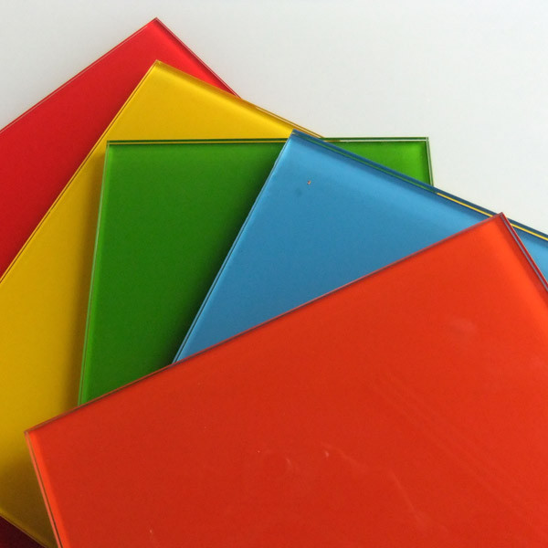 2mm - 6mm colorful Back Painted Glass / Lacquered Glass