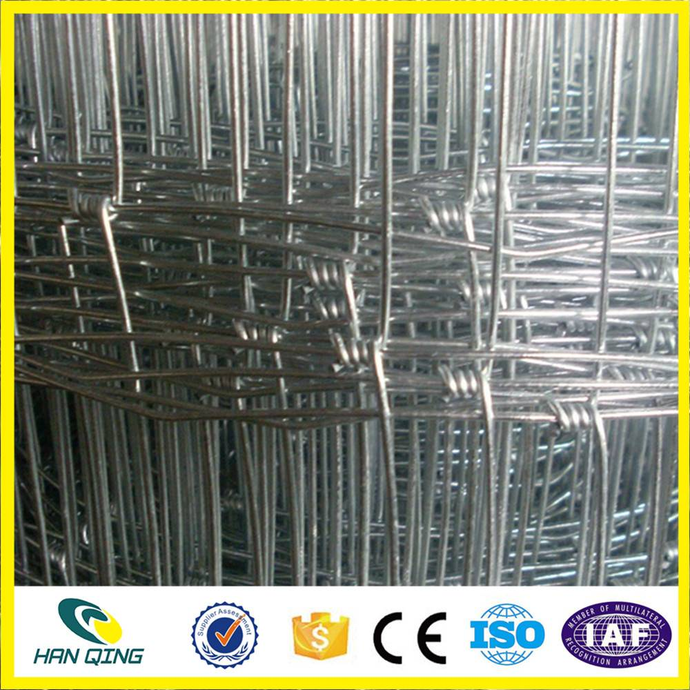 2.8mm edge wire with 30cm weft opening galvanzied cattle fence wire mesh