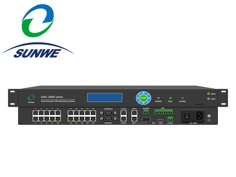 EMS-2800 for Data center,computer room LCD Display Wifi dual Ethernet Port