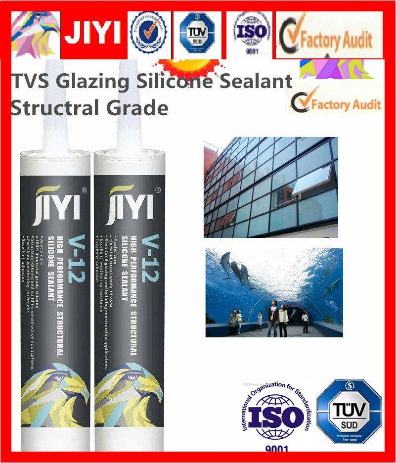 acetic silicone sealant for glass and alumilum curtain wall construction structual bonding and fixin