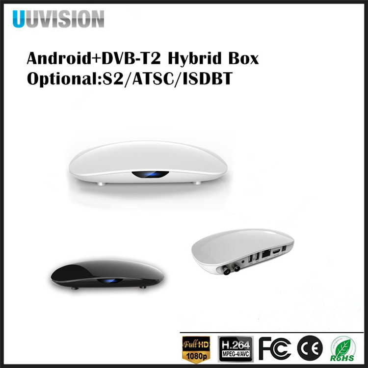 Uuvision Android tv box UH908 OTT+T2 With CPU S905