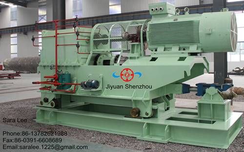 Hydraulic steel strip uncoiler for rolling mill